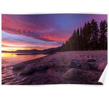 Dusk at Incline Beach Poster