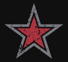 RED military uniform star distressed by jazzydevil