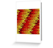 WAVY-2 (Reds, Oranges & Yellows)-(9000 x 9000 px) Greeting Card