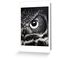 Owl Eye Greeting Card