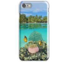 Tropical islet with anemone fish underwater iPhone Case/Skin