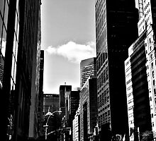 Off centered view of Midtown Manhattan by ShellyKay