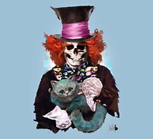Mad Hatter with Cat Unisex T-Shirt