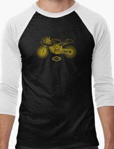 Retro Café Racer Bike - Gold Men's Baseball ¾ T-Shirt