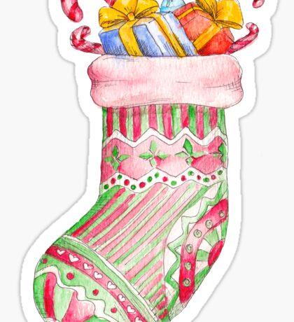 christmas sock Sticker