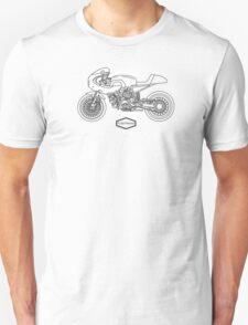 Retro Café Racer Bike - Black T-Shirt