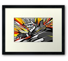Aggron   Metal Burst Framed Print