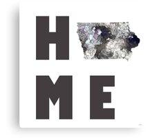 """Iowa """"HOME"""" Canvas Print"""