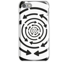 Any Which Way But Out - Black iPhone Case/Skin
