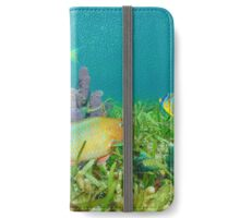 Marine life on seabed colorful fish Caribbean sea iPhone Wallet/Case/Skin