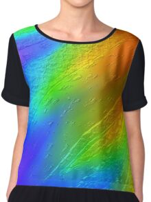 metal touch rainbow texture Chiffon Top