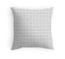 Mammoths and dots Throw Pillow