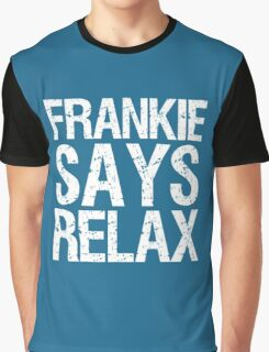 frankie-says-relax-white Graphic T-Shirt