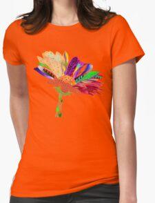 zentangle flower Womens Fitted T-Shirt