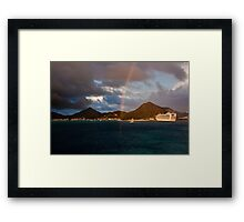 Touching the rainbow Framed Print