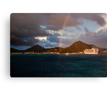 Touching the rainbow Canvas Print
