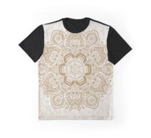 Mandala Temptation in Beige and Gold Colors, #redbubble, #design, #pattern Graphic T-Shirt