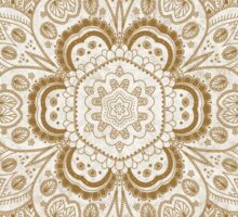 Mandala Temptation in Beige and Gold Colors, #redbubble, #design, #pattern Sticker