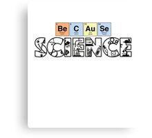 periodically nerdy. Canvas Print