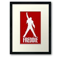 Freddie Mercury Queen's Singer Silhouette Framed Print