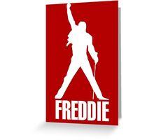 Freddie Mercury Queen's Singer Silhouette Greeting Card