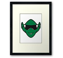 Evil halloween Monster vampire sunglasses Framed Print