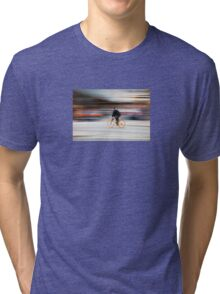 Cyclist in motion Tri-blend T-Shirt