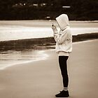 iPhone Hoodie Girl - Who is she? by Clare Colins