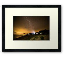 Milky Way Camping Framed Print