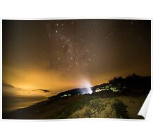 Milky Way Camping Poster