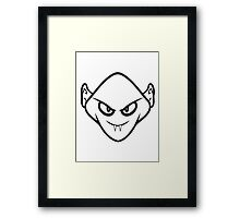 Evil halloween Monster vampire horror Framed Print