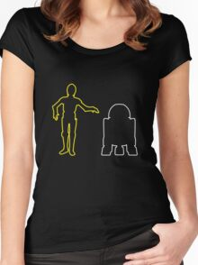 C-3PO And R2-D2 Women's Fitted Scoop T-Shirt