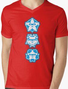 Three Cute Samurai Mens V-Neck T-Shirt
