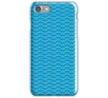 Blue Art Deco Scale Pattern iPhone Case/Skin
