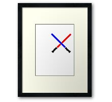 Lightsaber Battle Framed Print