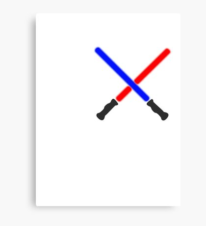 Lightsaber Battle Canvas Print