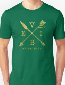 VIBE Feather Arrow Cross GOLD Unisex T-Shirt
