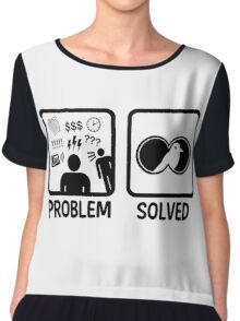 Funny Bird Watching Problem Solved Chiffon Top