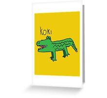 Koki The Crocodile ! Greeting Card