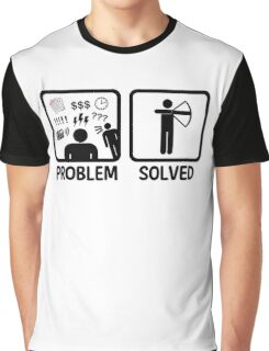 Funny Archery Problem Solved Graphic T-Shirt