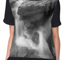 River cascading over rocks Chiffon Top