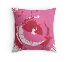 Pink and Red Splash Throw Pillow