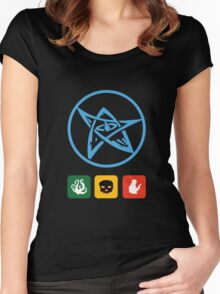 Elder Sign and Dice Women's Fitted Scoop T-Shirt