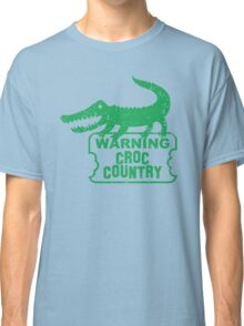 WARNING croc country distressed version Classic T-Shirt