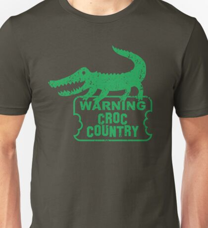 WARNING croc country distressed version Unisex T-Shirt