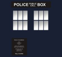 Police Box Classic Blue T-Shirt