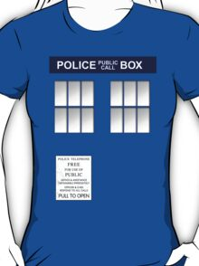 Police Box New Blue T-Shirt