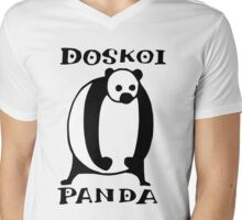 Doskoi Panda Mens V-Neck T-Shirt