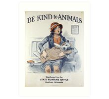 Be Kind To Animals (1934) Art Print