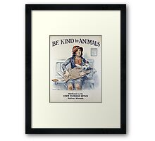 Be Kind To Animals (1934) Framed Print